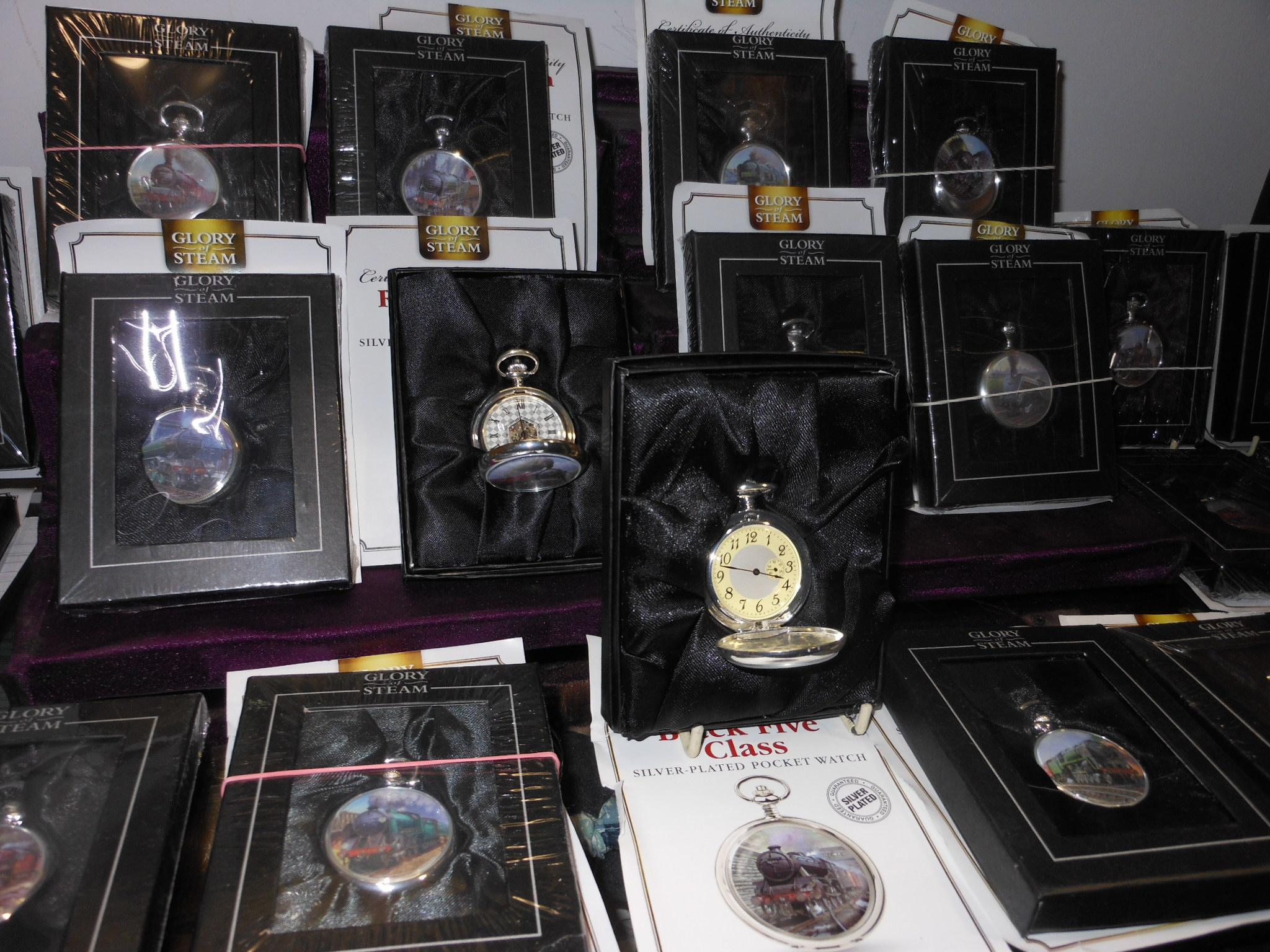 'Glory of Steam' Steam Locomotive Pocket Watch Collection 01.12.2018 Limassol
